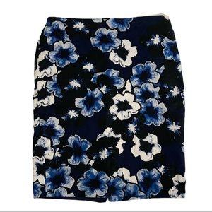 Lord & Taylor Blue Floral Skirt Size 10